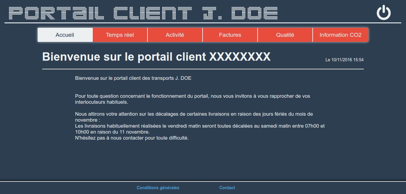 Portail client logiciel transport Cargo-TMS Actualités
