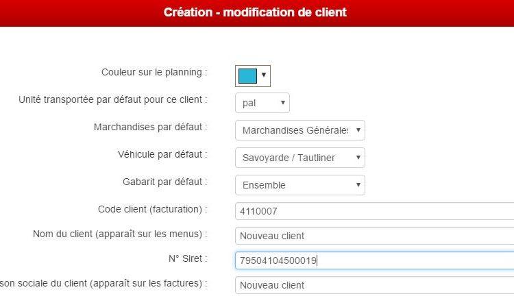 Génération automatique des codes clients