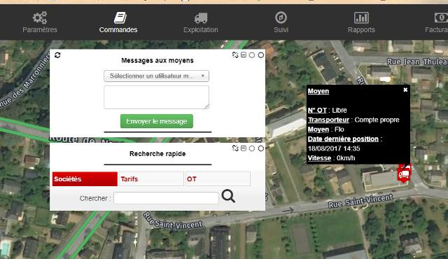Nouvelle fonctionnalité : l'envoi de message aux chauffeurs